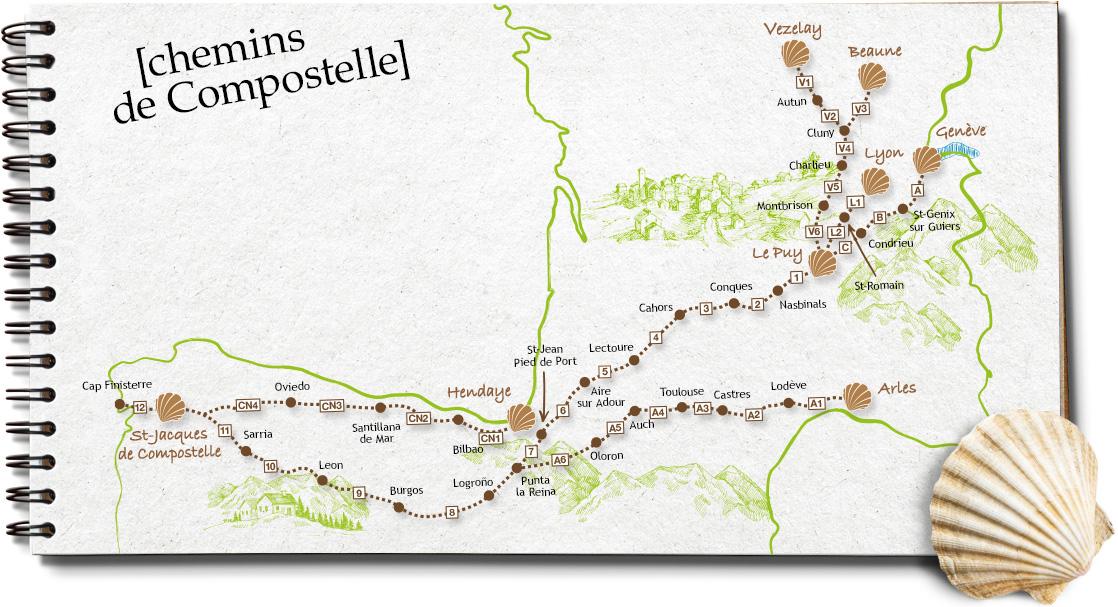 Chemins de Saint Jacques de Compostelle